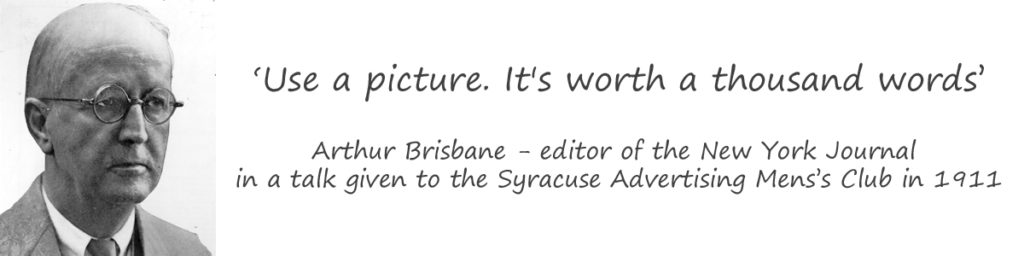 Use an image, it's worth a thousand words - Arthur Brisbane